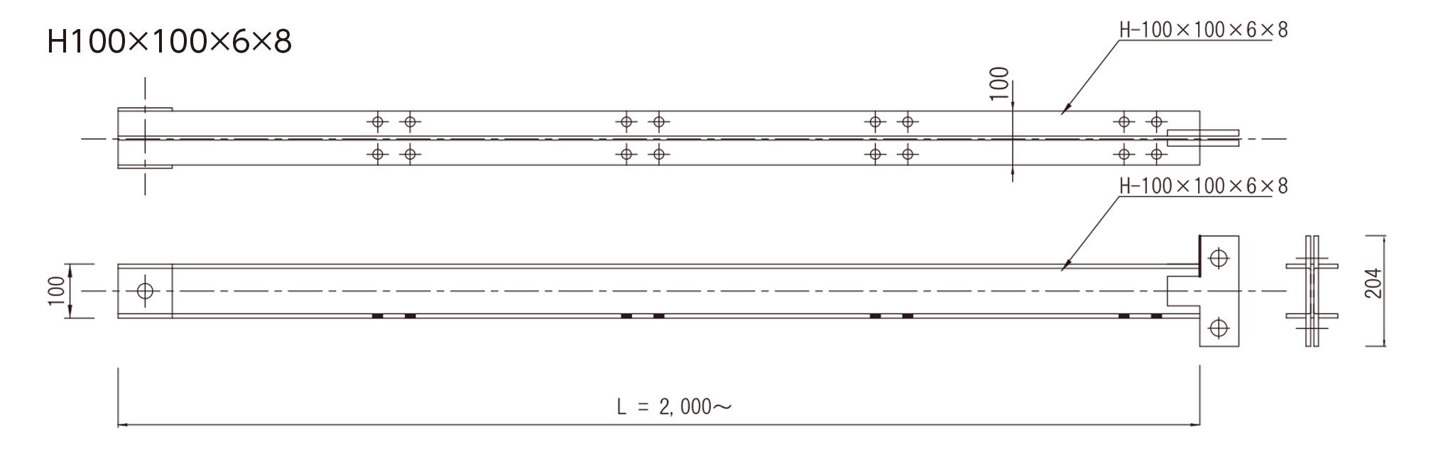 キャフロン支柱(TYPE-1)