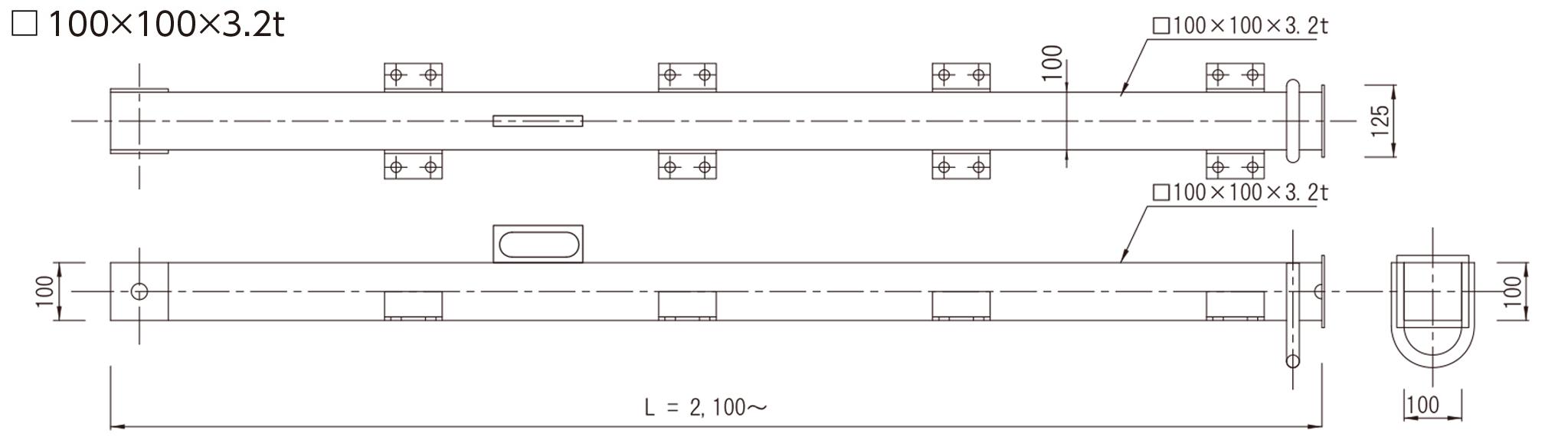 キャフロン支柱(TYPE-2)