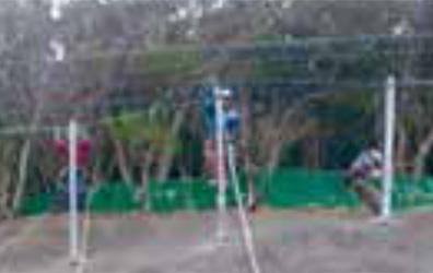 吊り及び天端横ロープ設置