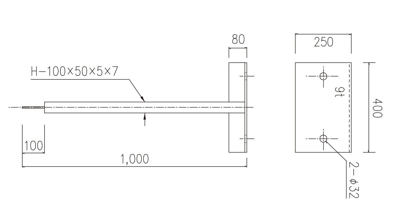 ベースアンカー[JIS G 3101]