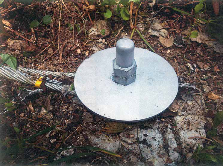 岩盤用アンカーの頭部安全対
